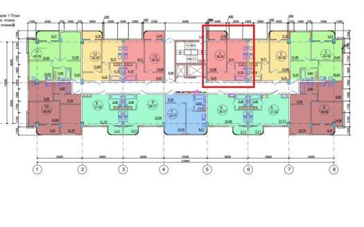 1-комнатная квартира в жк новая заря сочи 51