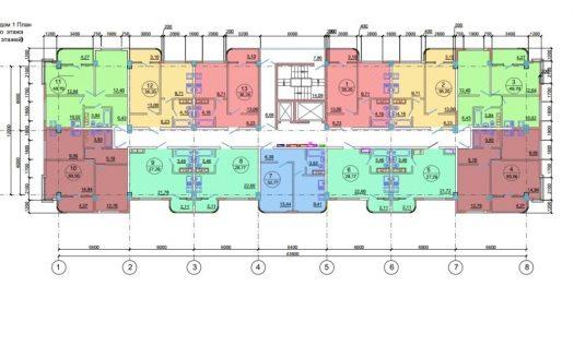 2-х комнатная квартира 50 квм в ЖК Новая Заря Сочи