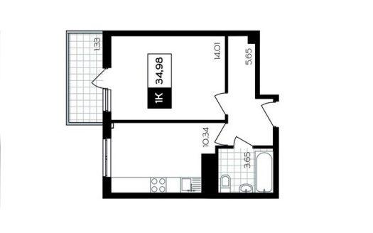Планировка квартиры 35 квм в ЖК Министерские озера Сочи