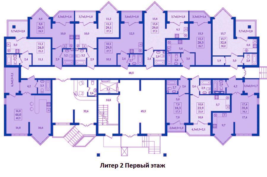 ЖК Жилой Квартал Литер 2 Этаж 1