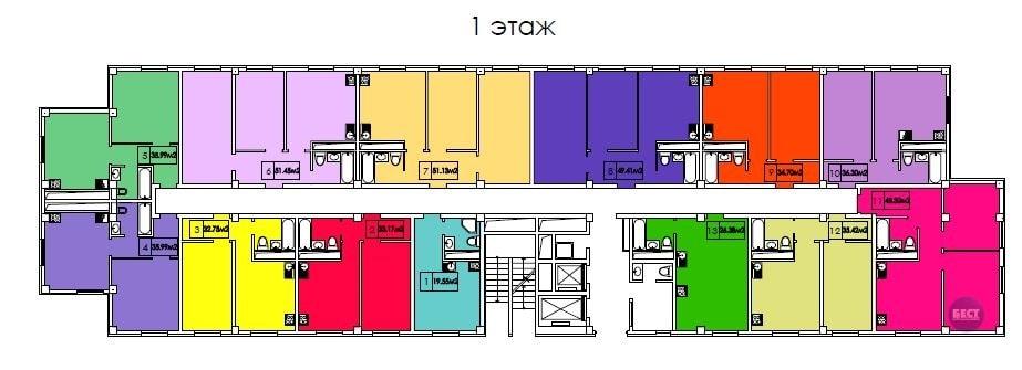 ЖК Гранд парк Сочи Планировка квартир 1-й этаж