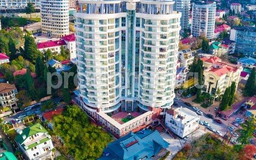 ЖК Морской дворец Сочи Фото вид сверху