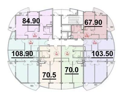 ЖК Нагорная 1 Планировка квартир 2