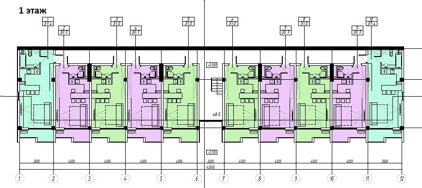 ЖК Sunny Hill Адлер План 1-го этажа