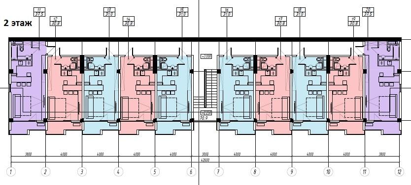 ЖК Sunny Hill Адлер План 2-го этажа