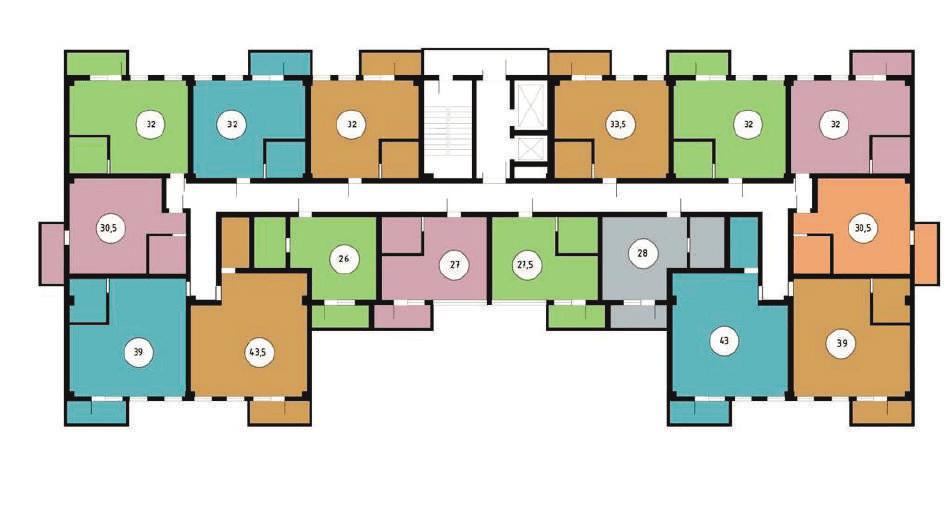 ЖК Звездный берег Сочи Планировка этажей 2