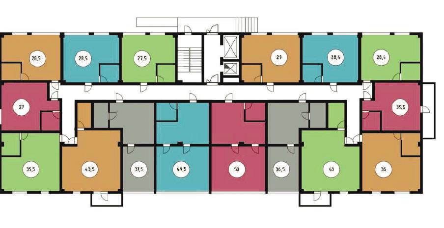 ЖК Звездный берег Сочи Планировка этажей 1