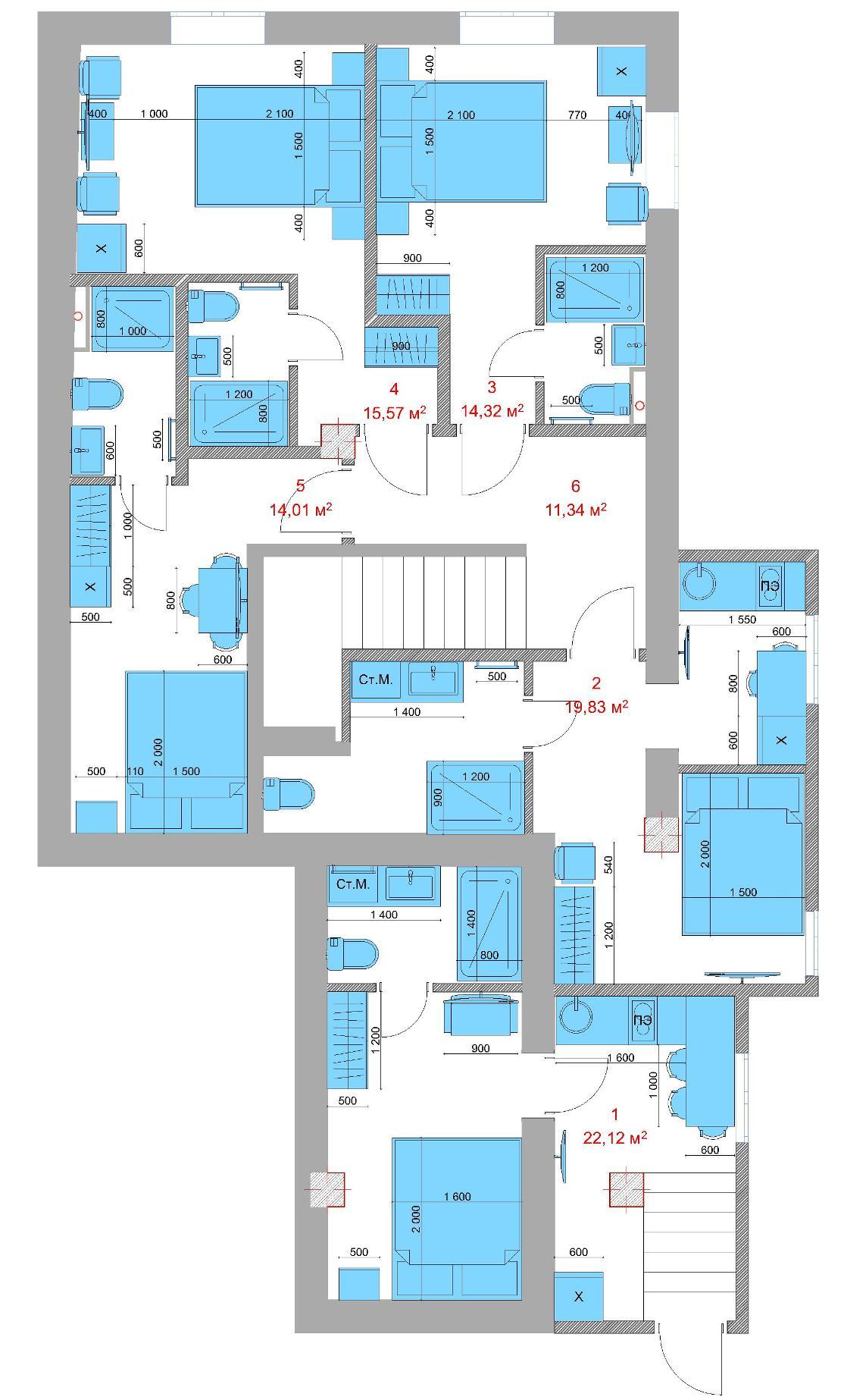 ЖК Шарден Сочи Планировка цокольного этажа