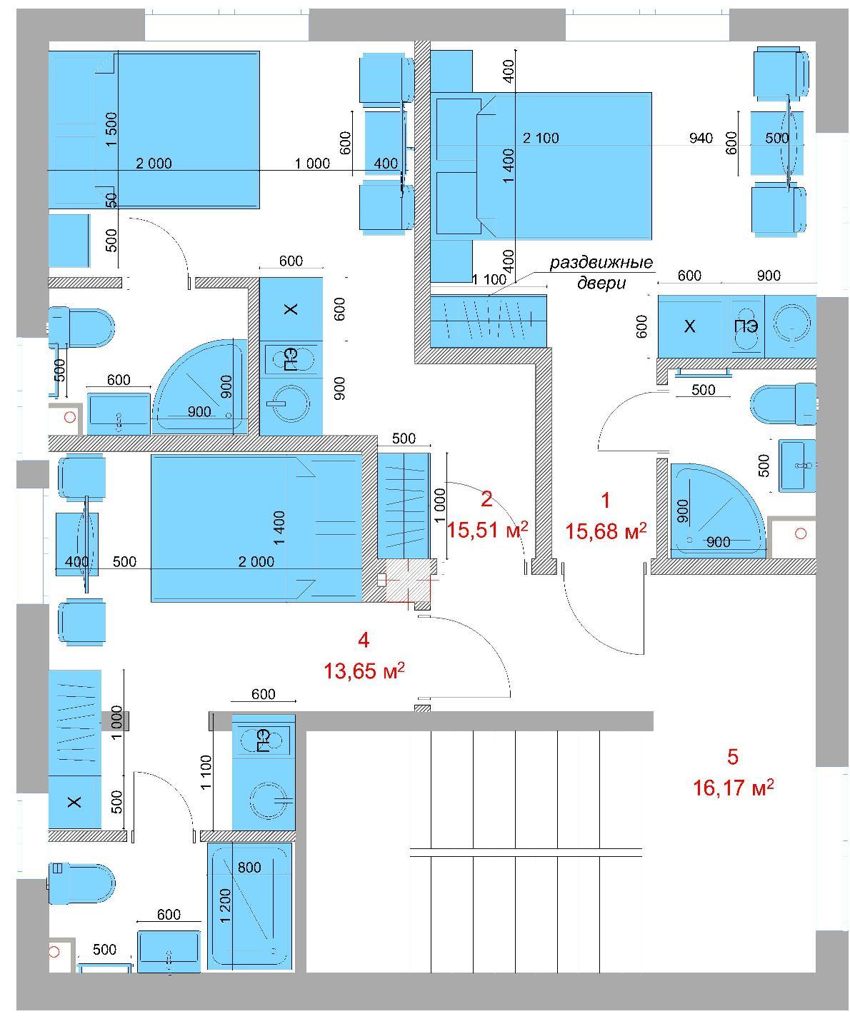 ЖК Шарден Сочи Планировка 2-го этажа