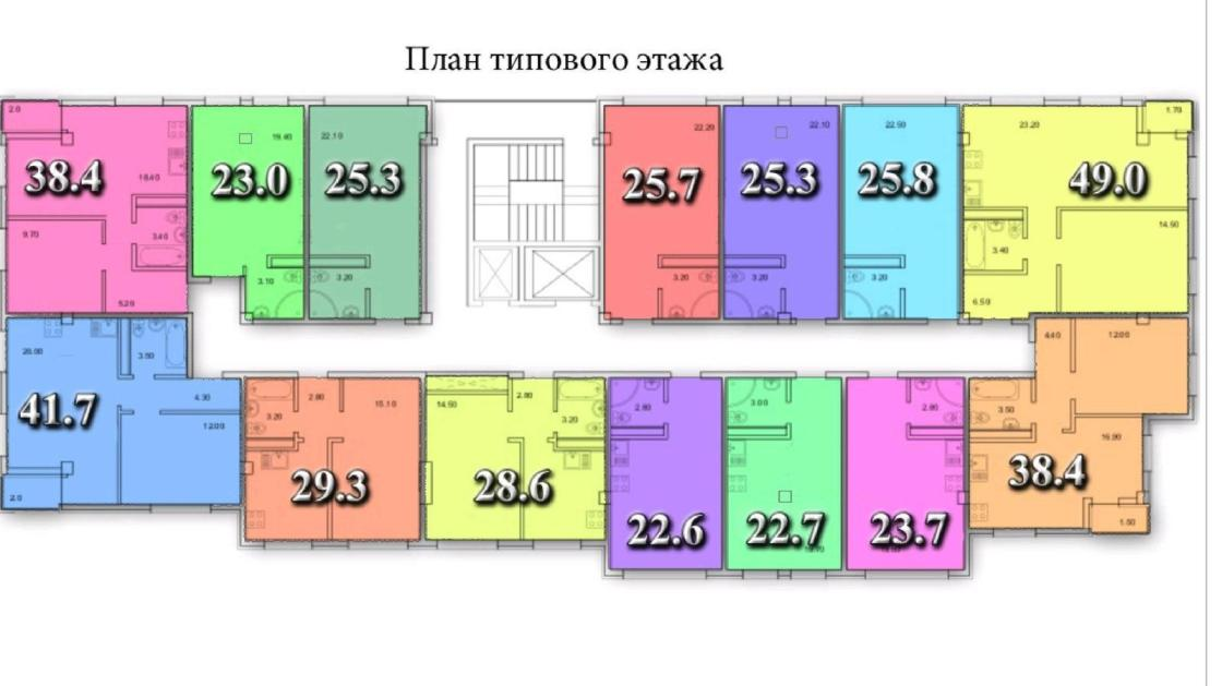 ЖК Тихий Дон Сочи План типового этажа