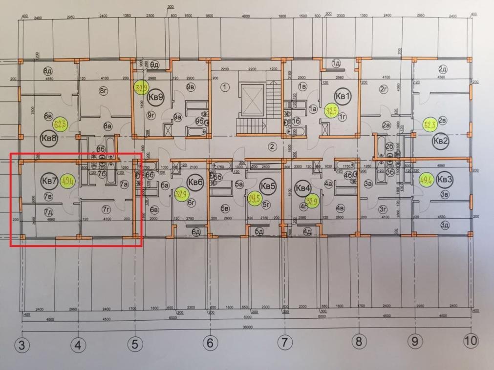 ЖК Гармония 3 Сочи План 6-го этажа