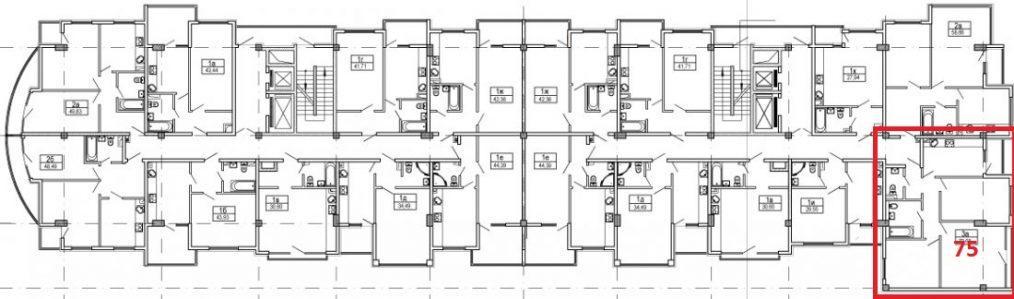 ЖК Посейдон Сочи План 9 этажа