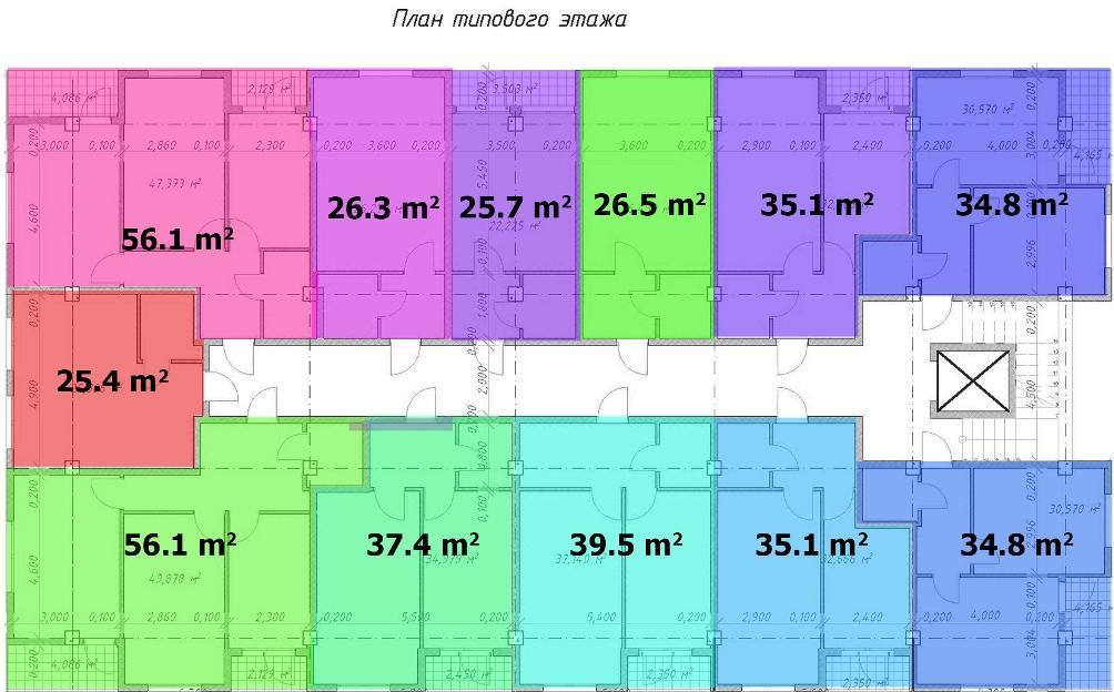 ЖК Барселона 4 - План типового этажа