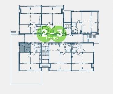 Екатерининский квартал Адлер План 2-3 этажей