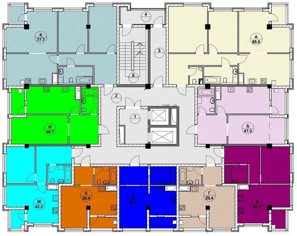 ЖК Каньон 1 Сочи Планировка квартир