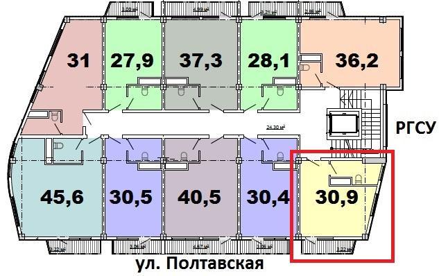 ЖК Монте-Карло Сочи План 14-го этажа