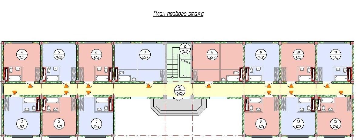 ЖК Рио де Мамайка Сочи План 1-го этажа