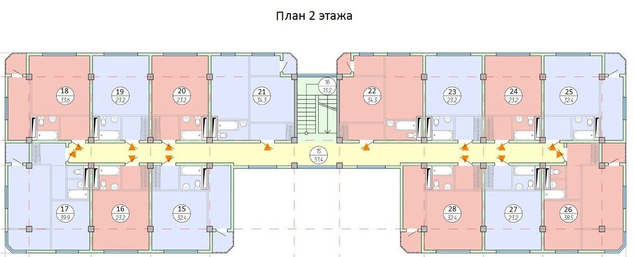 ЖК Рио де Мамайка Сочи План 2-го этажа