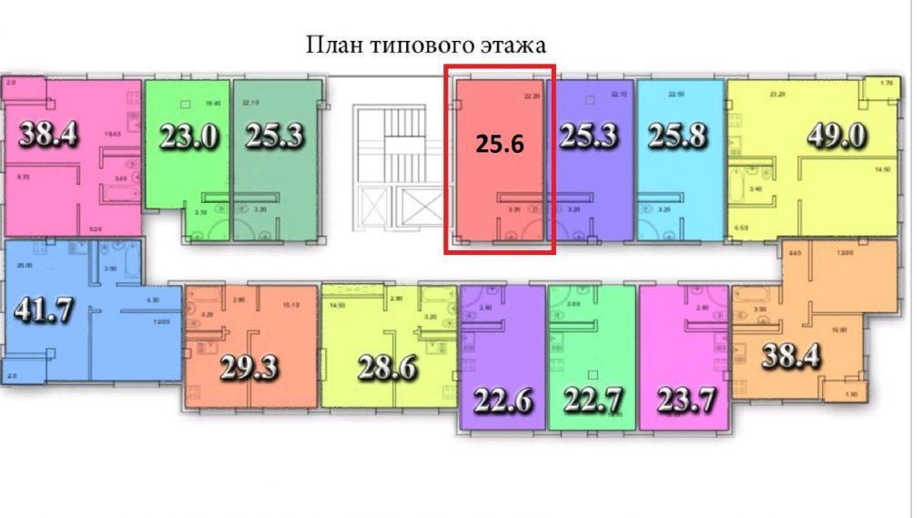 ЖК Тихий Дон Сочи - план 12-го этажа