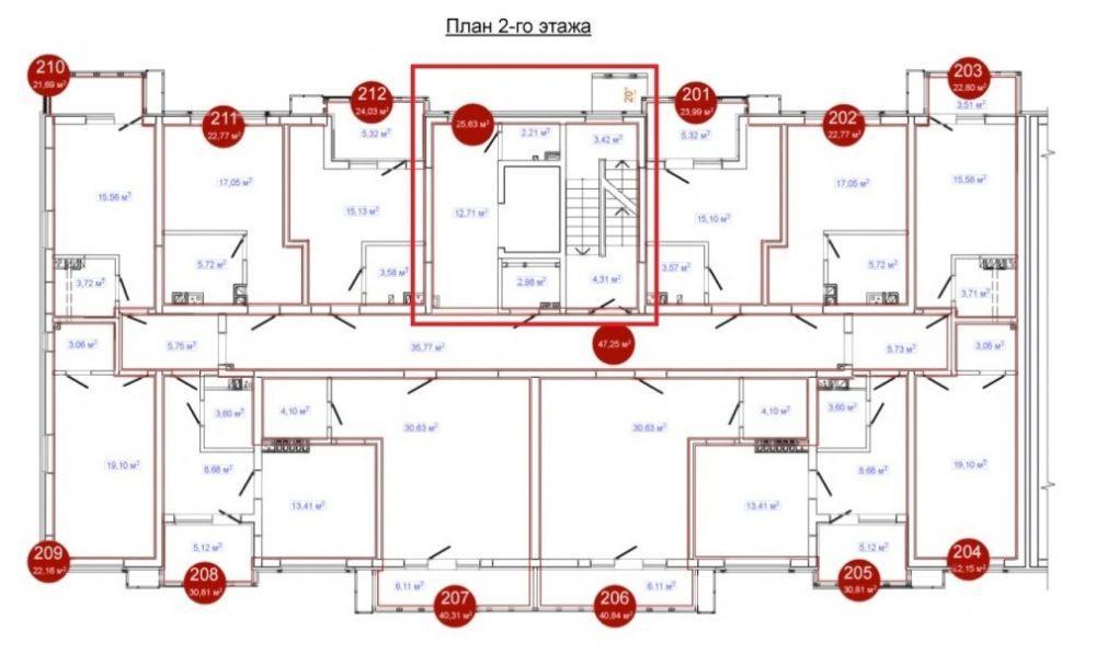 Александровский сад - План 2-го этажа