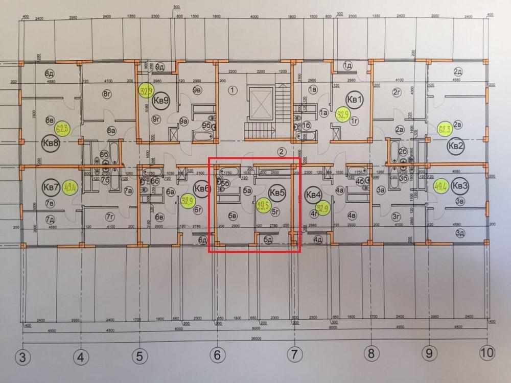 ЖК Гармония-3 Сочи План 3-го этажа