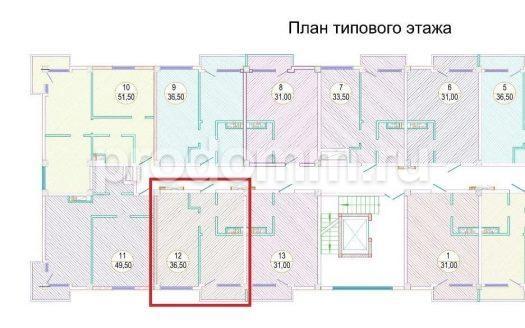 ЖК Каньон 3 квартира 36,5 кв м с балконом