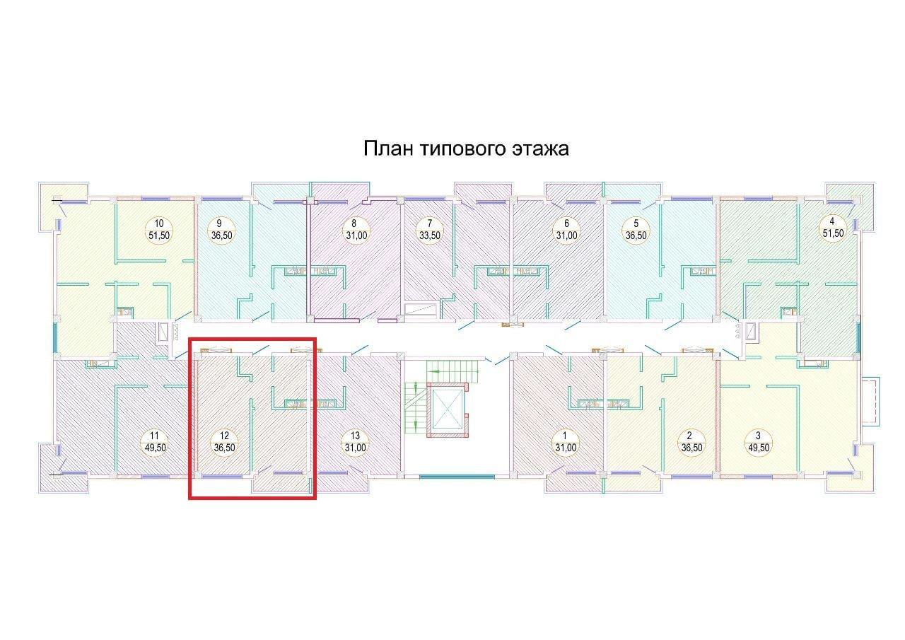 ЖК Каньон 3 план этажа