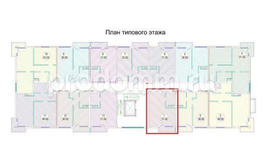 План типового этажа ЖК Каньон-3