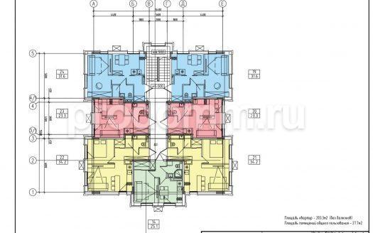 ЖК Ландыш Сочи План 3-го этажа