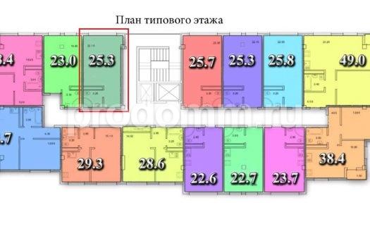 ЖК Тихий Дон Сочи квартира 25,3 кв м