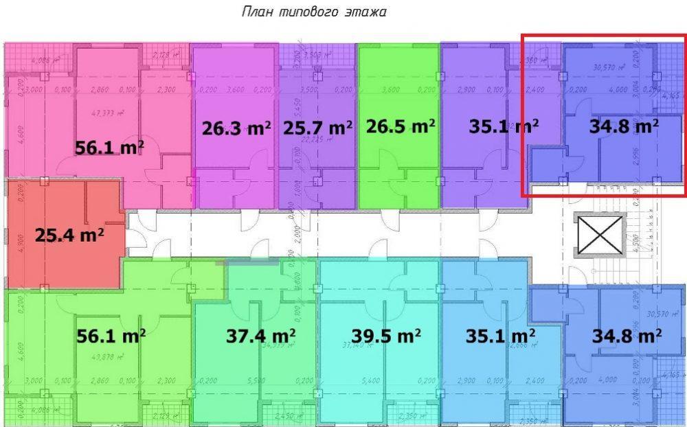 ЖК Барселона 4 Сочи План 10-го этажа