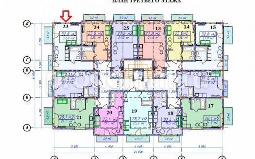 ЖК Милан План 3-го этажа
