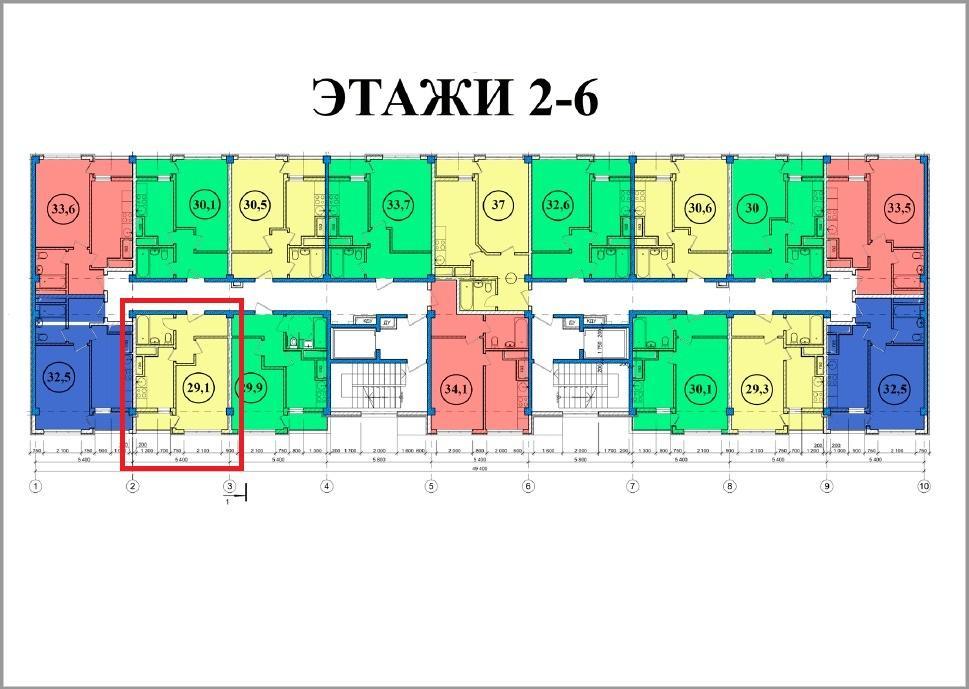ЖК Сен-Тропе Сочи План 6-го этажа