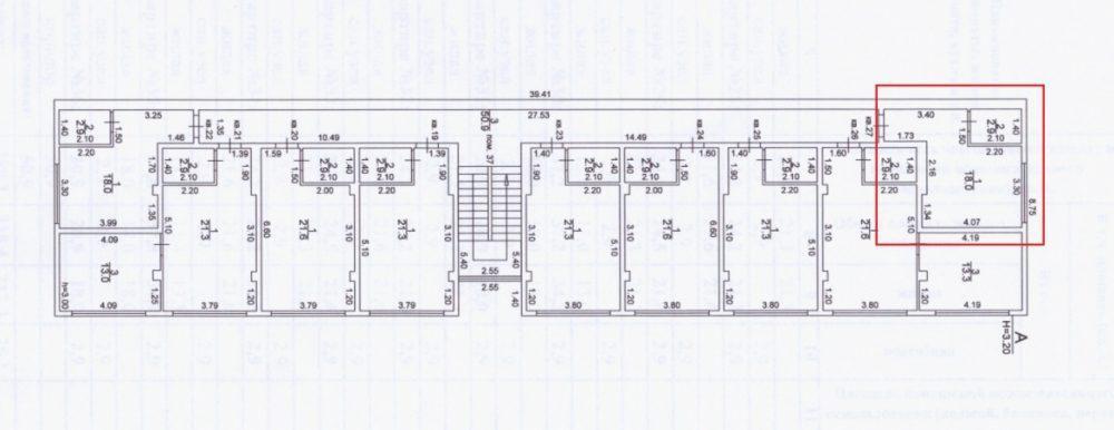 ЖК Санни Хилл Адлер план студии 18,9 м