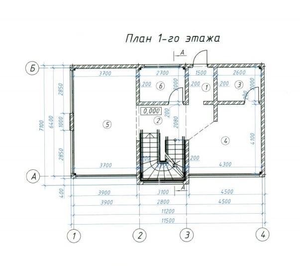 КП Цветочный План 1-го этажа