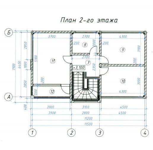 КП Цветочный План 2-го этажа