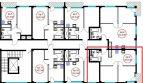 2 комнатная квартира 43,9 кв м в ЖК Гармония-4 с балконом