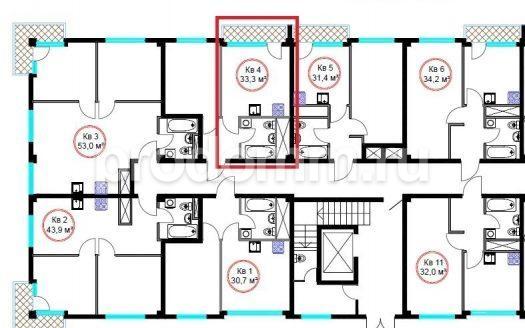 ЖК Гармония-4 Сочи квартира 33 кв метра