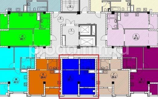 ЖК Каньон 1 Сочи план квартиры 32 кв м