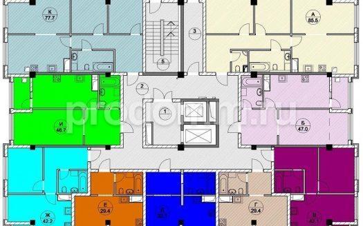 ЖК Каньон 1 Сочи план квартиры 50,9 кв м