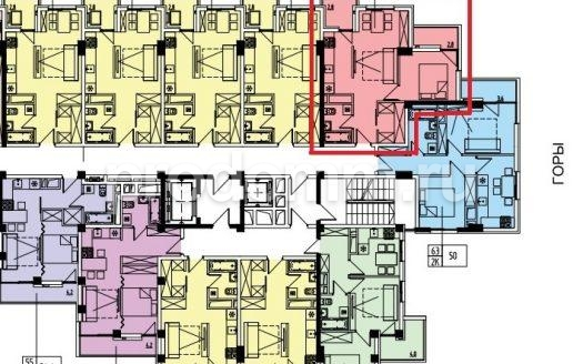 ЖК Мадрид 4 Сочи План квартиры 46,7 кв метра