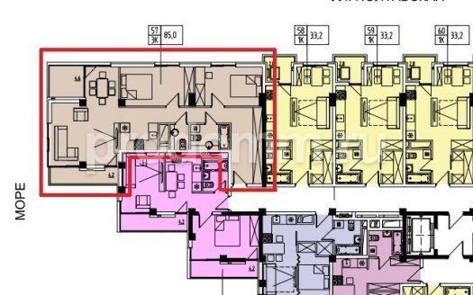 ЖК Мадрид 4 Сочи План квартиры 85 кв м