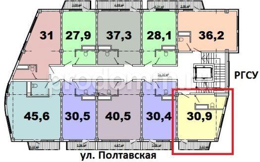 ЖК Монте-Карло Сочи квартира 30,9 кв м