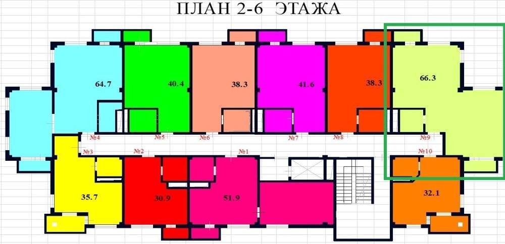 ЖК River House Сочи - План 2 этажа