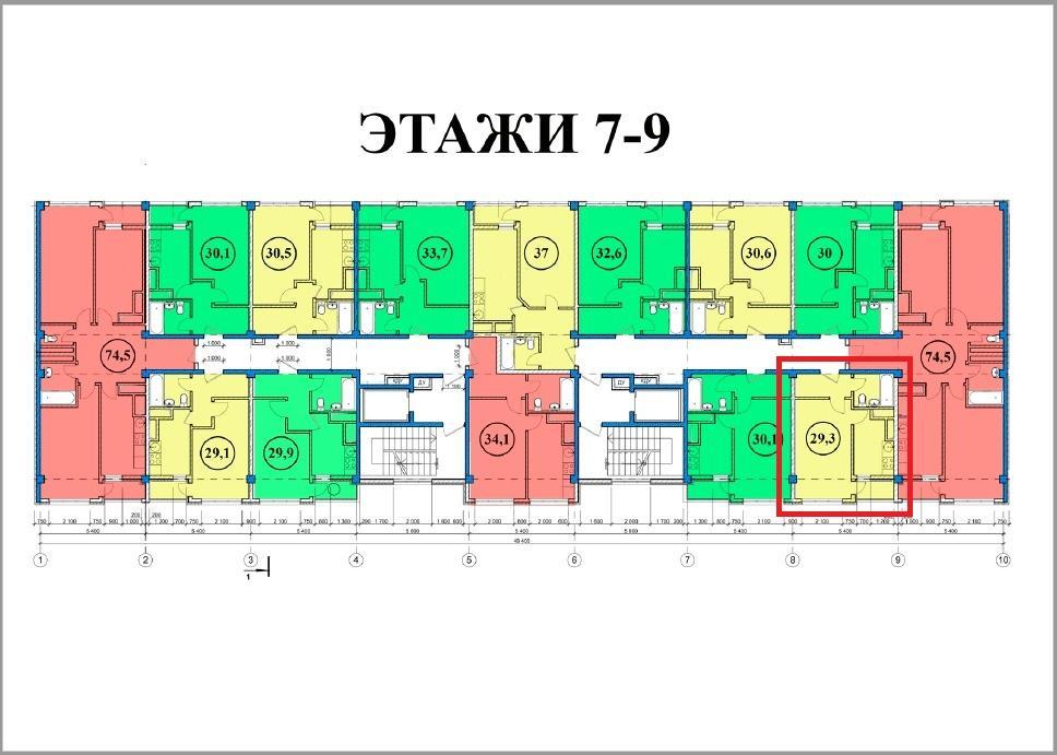 ЖК Сен-Тропе Сочи План 7-го этажа