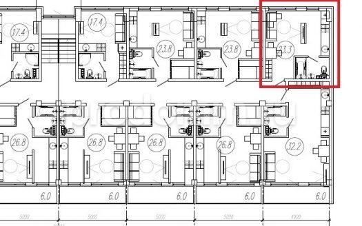 ЖК Санни Хилл Адлер План квартиры 23,3 кв м