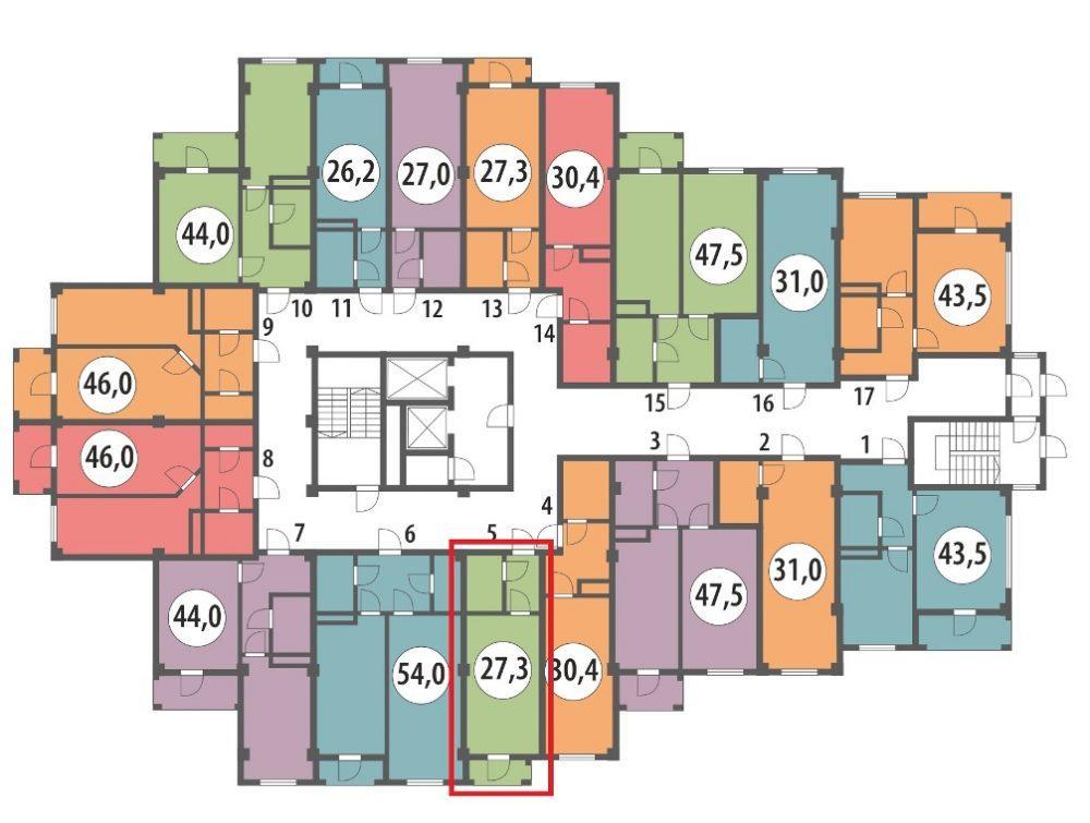 ЖК Вишнёвый парк План 2-го этажа