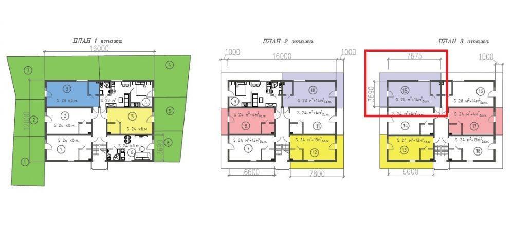 ЖК Византия Адлер - План 3-го этажа