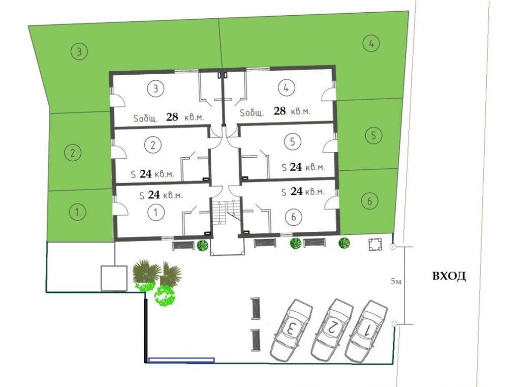 ЖК Византия Адлер - План 1-го этажа