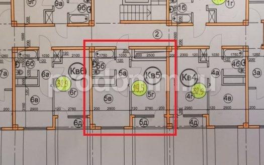 ЖК Гармония-3 Сочи План квартиры 29,5 кв м